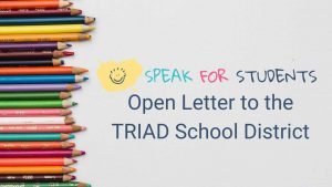 Open Letter to the TRIAD School District
